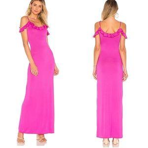 House of Harlow Revolve Liliane Maxi Ruffle Dress